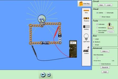 тока в электрической цепи.